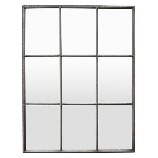 "47"" Metal Wall Mirror Decoration in Silver - Antique Silver"