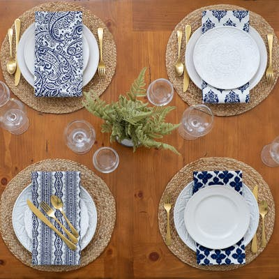 """The Curated Nomad Pratt 15-inch Round Jute Placemats (Set of 4) - 15""""x15"""" Round"""