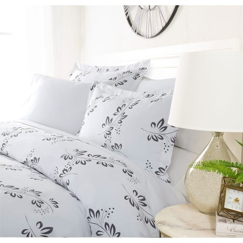 Luxury Gray Annual 3 Piece Duvet Cover Set by Sharon Osbourne Home