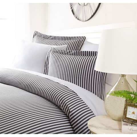 Luxury Striped Night 3 Piece Duvet Cover Set by Sharon Osbourne Home