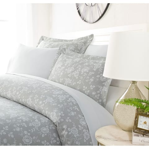 Luxury Silver Rose 3 Piece Duvet Cover Set by Sharon Osbourne Home