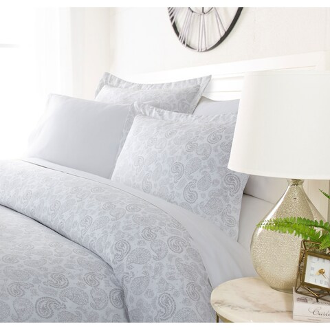 Luxury Distressed Paisley 3 Piece Duvet Cover Set By Sharon Osbourne Home