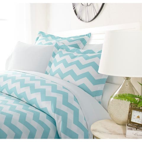 Luxury Classic Chevron 3 Piece Duvet Cover Setby Sharon Osbourne Home