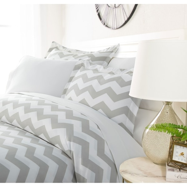 Luxury Classic Chevron 3 Piece Duvet Cover Setby Sharon Osbourne Home. Opens flyout.