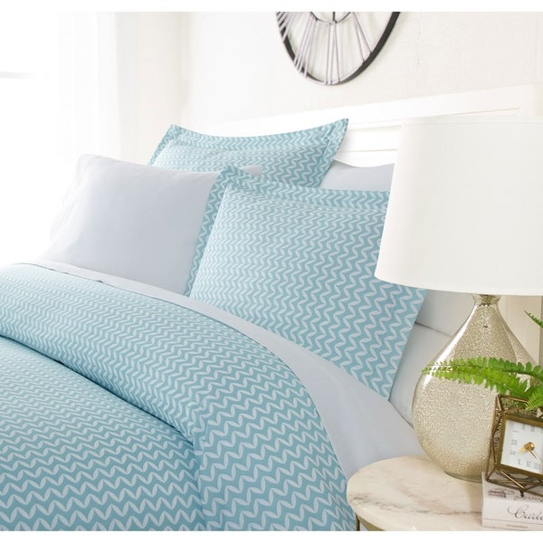 Luxury Bowed Chevron 3 Piece Duvet Cover Set by Sharon Osbourne Home