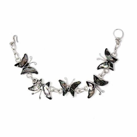 Handmade Butterfly Charm Abalone Bracelet