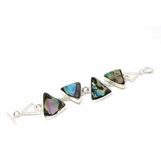 Link to Bracelet: Triangle Link with Abalone Similar Items in Fashion Jewelry Store