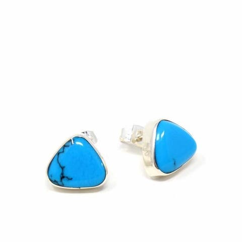 Handmade Sterling Silver Turquoise Earrings