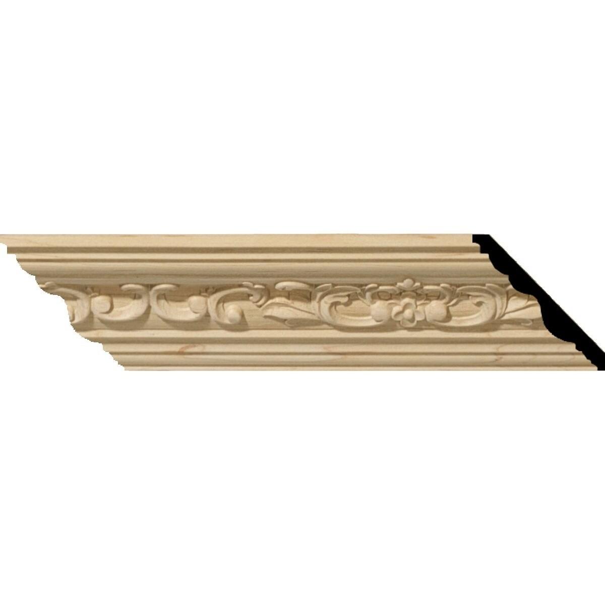 2 1/4H x 2 3/8P x 3 1/4F x 94 1/2L Medway Wood Crown Moulding (Alder - 2-Pack)