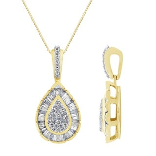 Diamond 1 4ct Drop Pendant In 10K Gold