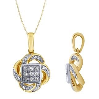 1 20ct Diamond Pendant In 14K Yellow Gold