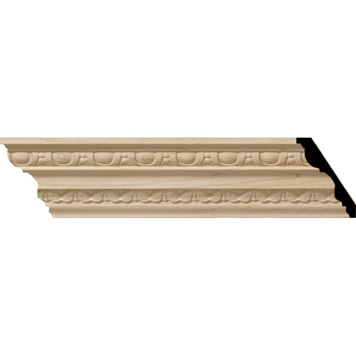 5 1/2H x 4P x 6 3/4F x 94 1/2L Bedford Wood Crown Moulding (Maple - 2-Pack)