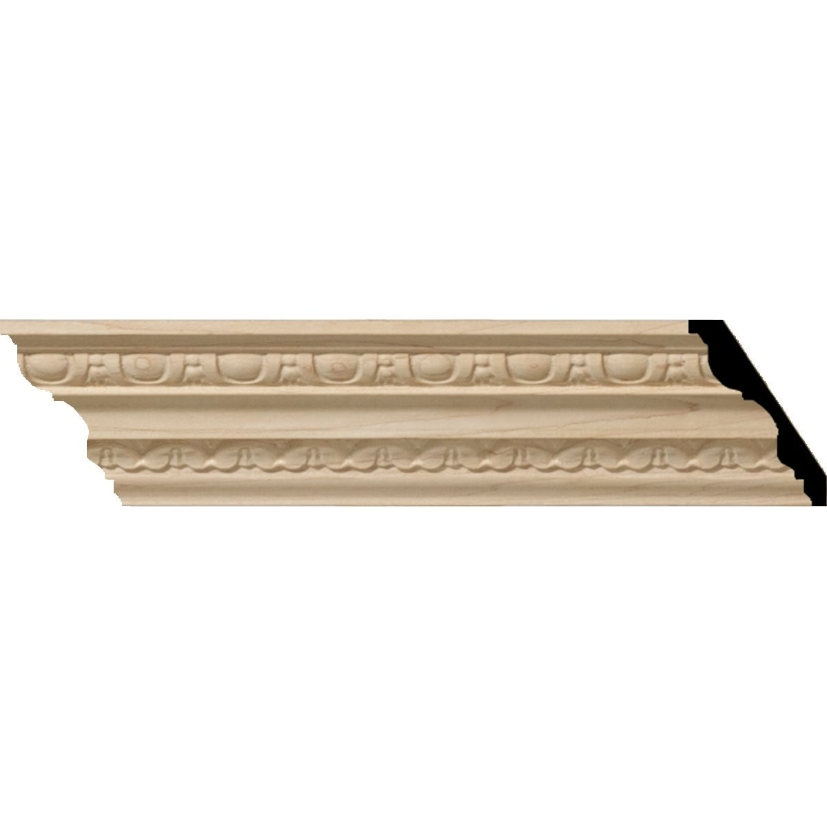 3H x 2 1/4P x 3 1/4F x 94 1/2L Bedford Wood Crown Moulding (Alder - 8-Pack)