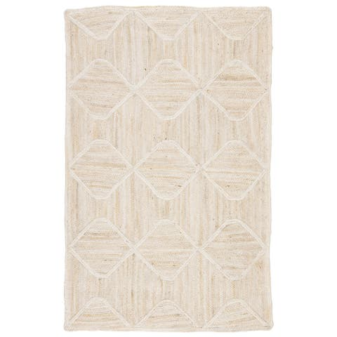 Carson Carrington Ubby Transitional Jute Natural Trellis Area Rug