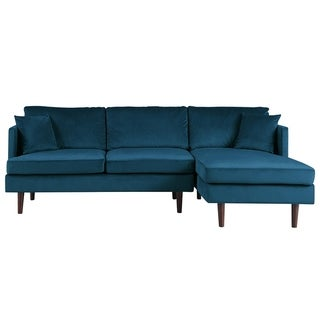 Mid Century Sectional Sofa Microfiber Upholstery