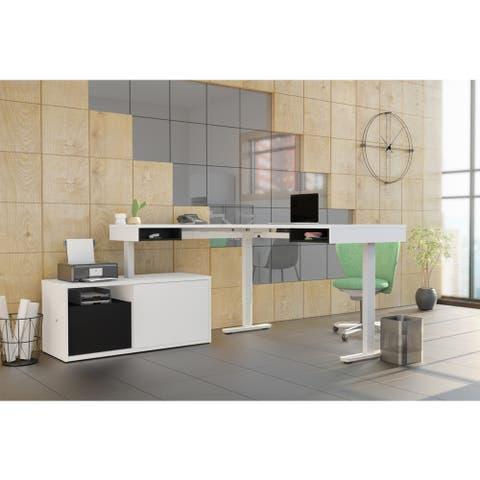 Strick & Bolton Cubiles Adjustable L-shaped Desk