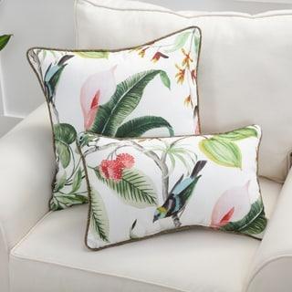 Pillow Perfect Paradise Leaf Throw Pillow