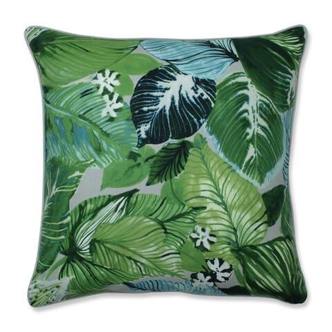 Pillow Perfect Lush Leaf Mojito Throw Pillow