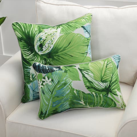 Pillow Perfect Lush Leaf Mojito Throw Pillow