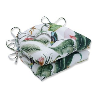 Paradise Leaf Reversible Chair Pad (Set of 2)