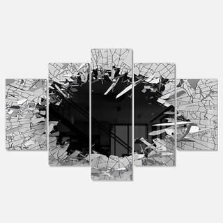Strick & Bolton 'Abstract Broken Wall 3D Design' Multi-panel Metal Wall Art