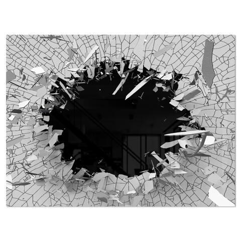 Strick & Bolton 'Abstract Broken Wall 3D Design' Metal Wall Art