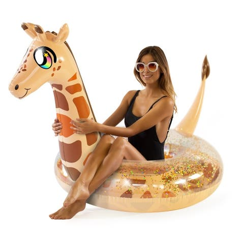 "Glitter Animals Pool Tube 48"" - Glitter Giraffe"