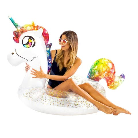 "Glitter Animals Pool Tube 48"" - Glitter Unicorn"