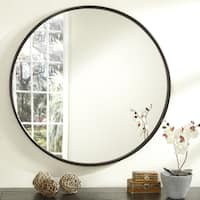 Copper Grove Encamp 36-inch Round Framed Wall Mirror
