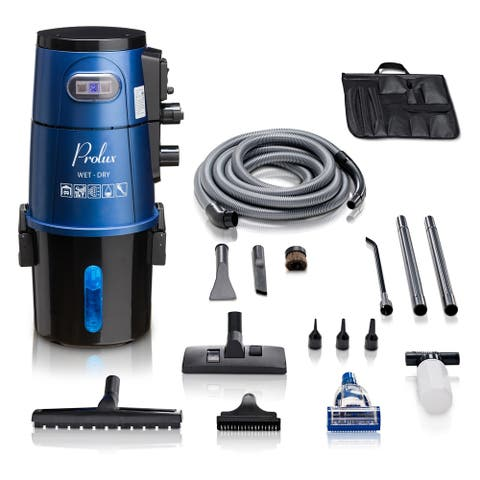Prolux Professional Shop Blue Wall Mounted Garage Vac Wet Dry Pick Up