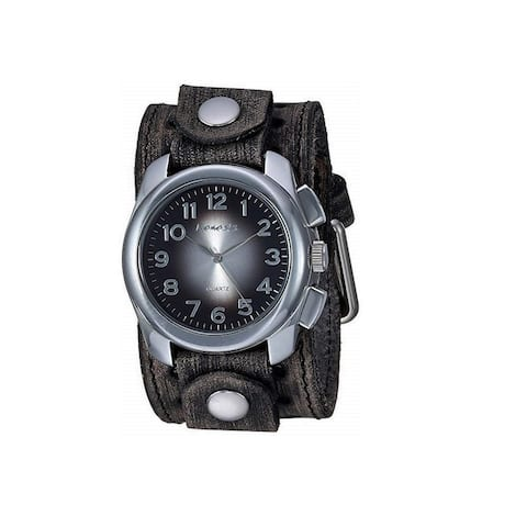 Nemesis Oval 'Gradient' Watch with Vintage Leather Cuff Band VSTH091K