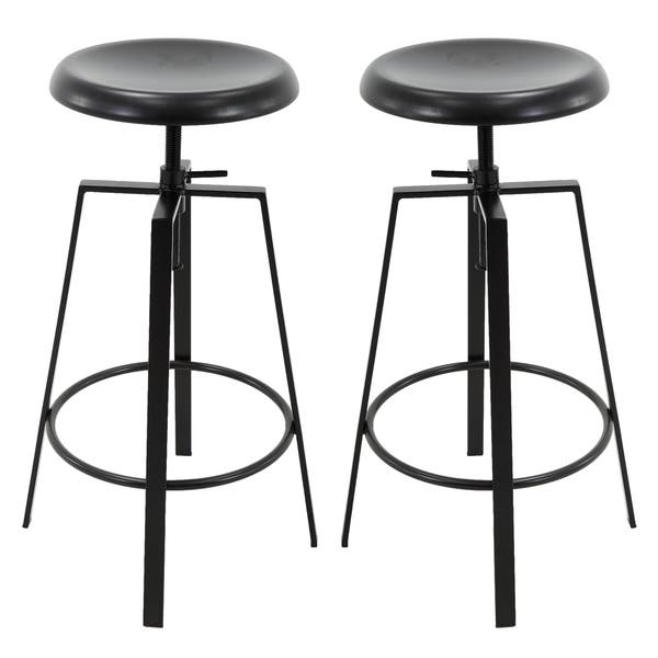 Astounding Shop Backless Round Seat Adjustable Height Swivel Bar Stools Pabps2019 Chair Design Images Pabps2019Com