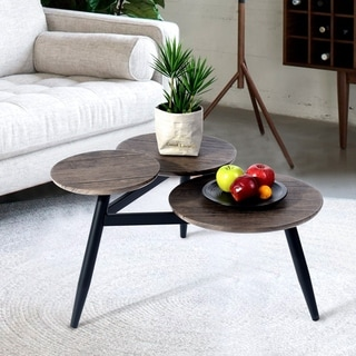 Carbon Loft Searz Coffee Table with Three Multi Round Nesting Side Table