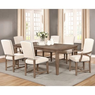Vintage French Design Dining Set with Matching Upholstered Chairs