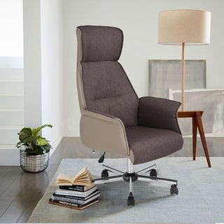 Porch & Den Sabin Fabric Upholstered High-back Office Chair