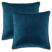 Gracewood Hollow Osmanagic 20-inch Square Solid Velvet Pillow Covers (Set of 2)