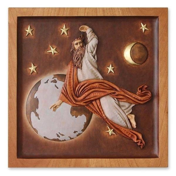 Divine Creator Cedar relief panel