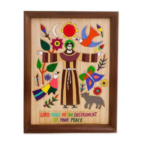 Handmade Proclamation of Love Wood relief panel (El Salvador )