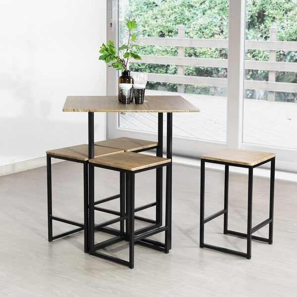 Carbon Loft Searz 5-piece Dining Table Set Walnut