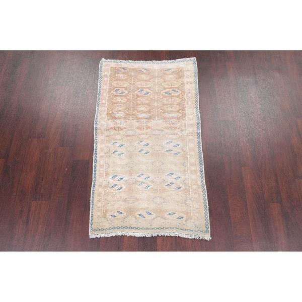 Persian Faded Hand Knotted Distressed