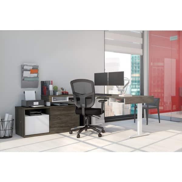 buy popular c6933 def18 Shop Strick & Bolton Cubiles Adjustable L-shaped Desk with ...