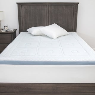 Link to SensorPEDIC SensorCOOL 3-Inch Memory Foam Mattress Topper - White Similar Items in Mattress Pads & Toppers
