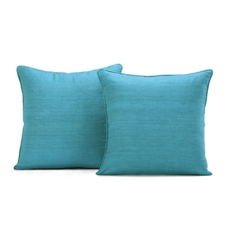 Porch & Den French Faux Raw Silk Cushion Cover (Set of 2)