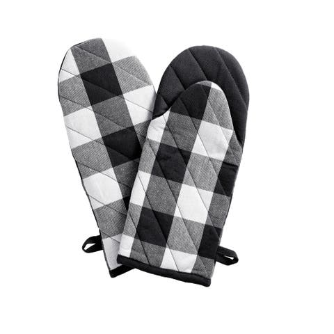 The Gray Barn Emily Gulch Buffalo Check Oven Mitt Pair