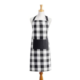 The Gray Barn Emily Gulch Buffalo Check Kitchen Apron with Pocket