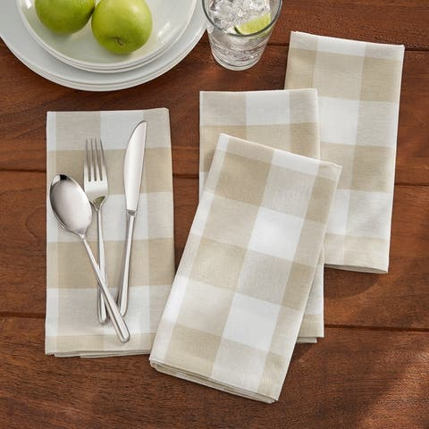 The Gray Barn Emily Gulch Buffalo Check Napkins, (Set of 4)