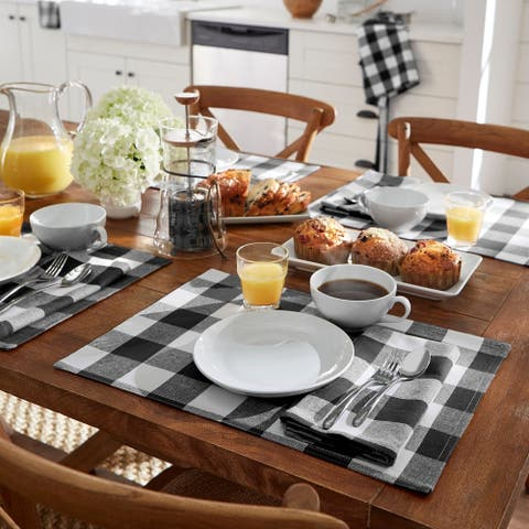 The Gray Barn Emily Gulch Buffalo Check Placemats (Set of 4)
