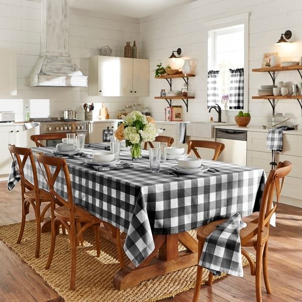 The Gray Barn Emily Gulch Farmhouse Buffalo Check Tablecloth. Opens flyout.