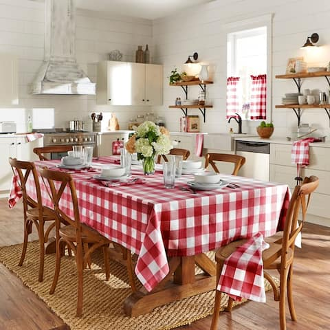 The Gray Barn Emily Gulch Farmhouse Buffalo Check Tablecloth