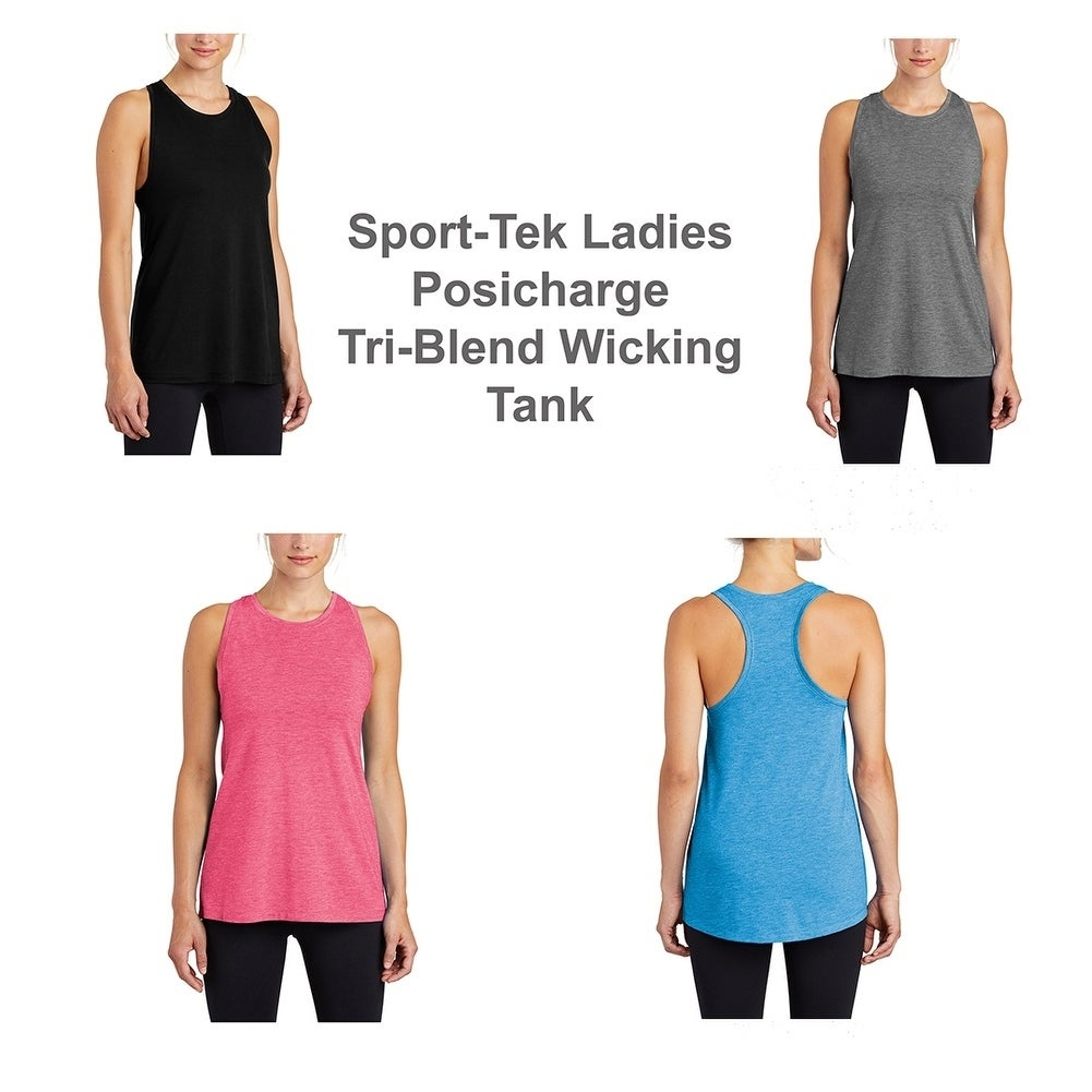 Sport Tek Ladies Posicharge Tri Blend Wicking Tank Overstock 28108746 Unfollow sportek to stop getting updates on your ebay feed. sport tek ladies posicharge tri blend wicking tank